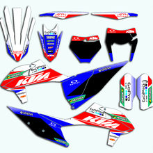 Full Custom Stickers Motocross Graphics Backgrounds Decals For KTM EXC XC XCF 2020 For KTM SX SXF 2019 2020 125 150 250 350 450 motorcycle graphics stickers decals for ktm sxf mxc xc sx exc 125 200 250 300 350 400 450 525 2005 2006 2007