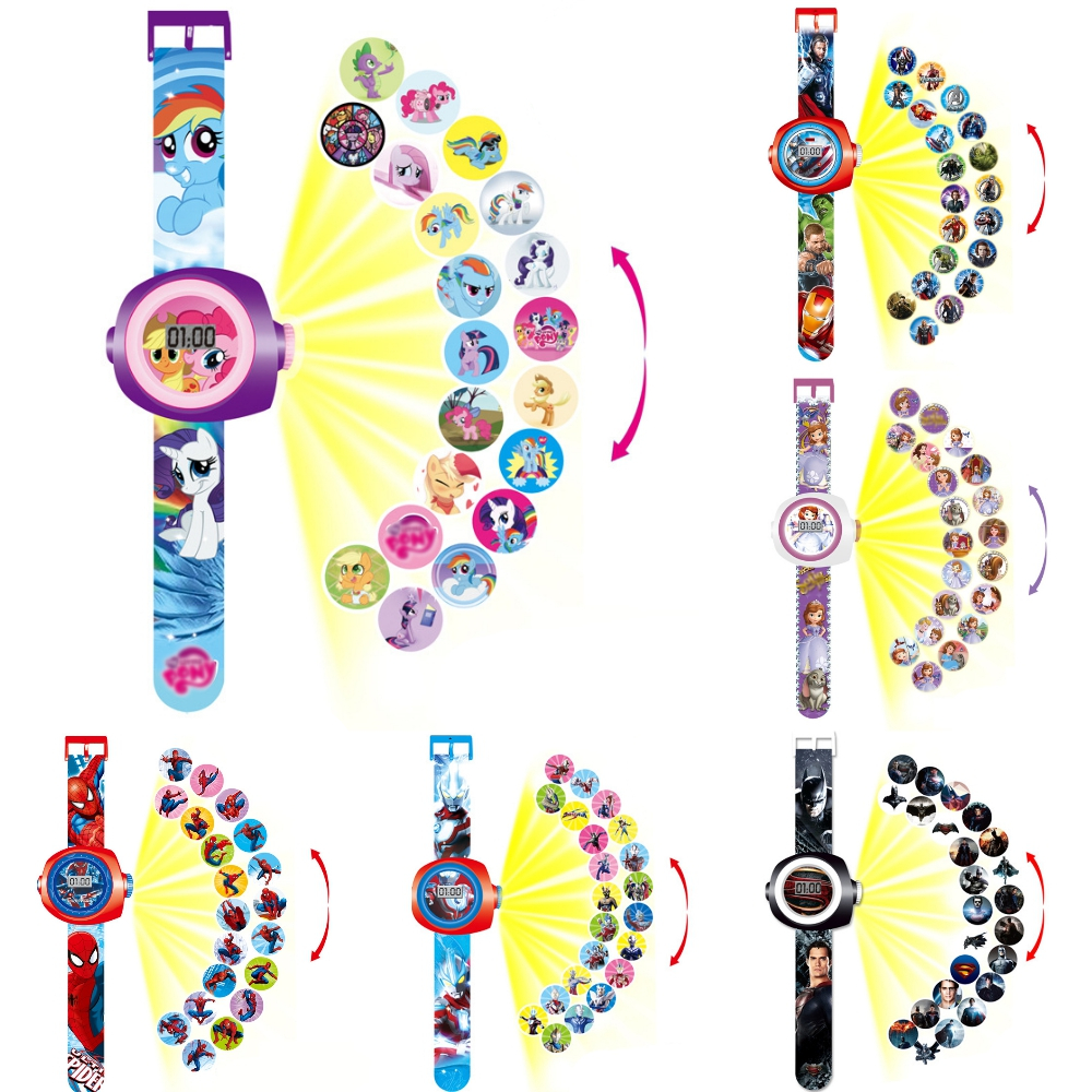 2020 New Children Projection Watch Kids Toys Princess Child Watches LED Light Display Electronic Watch For Boy Girl Clock