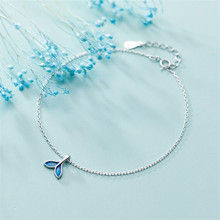 925 sterling silver chains The mermaid tail sweet temperament allergy Womens fashion jewelry