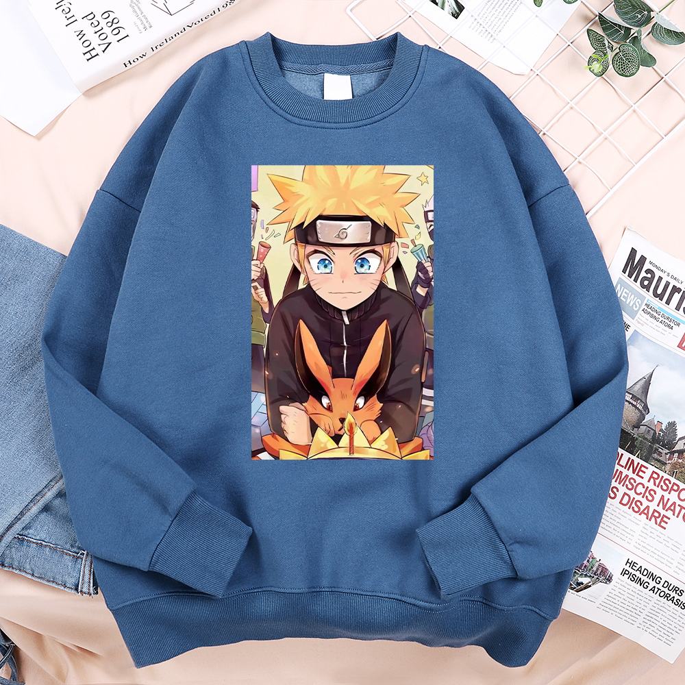 Sweatshirts Male Naruto Hoodie Mens Japan Anime Sportswear Teenager Funny Vintage Fashion-Brand