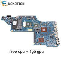 Nokotion 노트북 마더 보드 hp dv6 DV6-6000 시리즈 640454-001 소켓 s1 무료 cpu 1gb 그래픽 전체 테스트