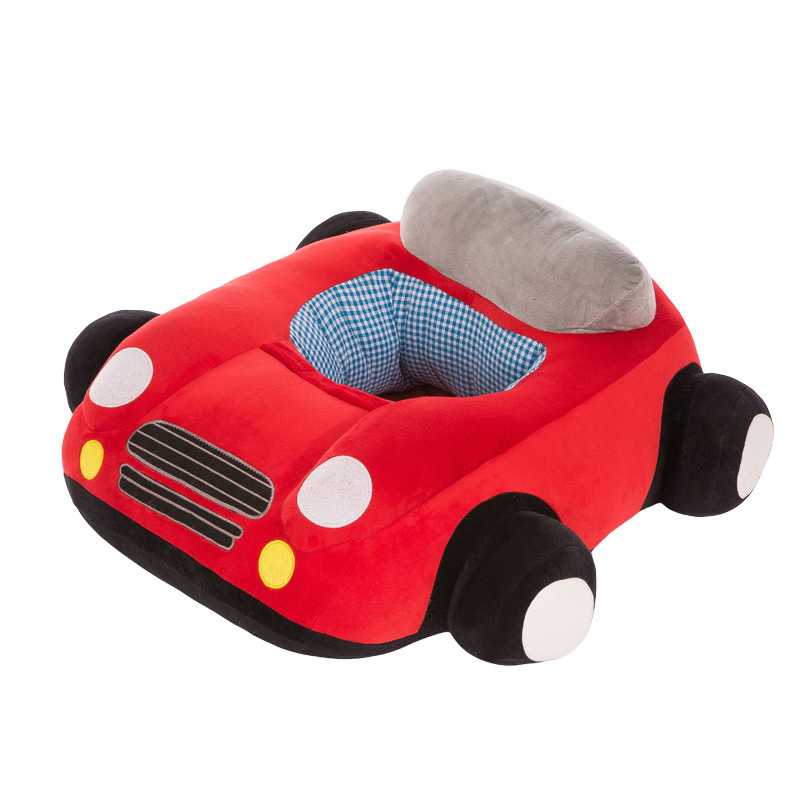 Hot Baby Learn To Sit Chair Baby Learn To Sit Sofa Car Learn Seat Plush Toy Cartoon Car Fabric Safety Seat 4 Months-2 Years Old