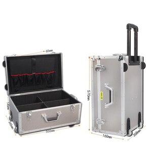 Image 1 - נסיעות סיפור גדול אלומיניום מזוודת מזוודות עגלה קשיח מקרה כלי מקרה תיק על גלגל