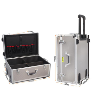 Image 1 - REIZEN TALE grote aluminium bagage koffer harde trolley case tool case tas op wiel