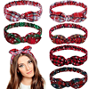 Christmas Grid Headband Merry Christmas Decor for Home 2021 Christmas Ornament Natal Xmas Gifts Navidad Noel Yoga Sweat Guide