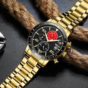 Image 5 - NIBOSI Mens Watches 2020 New Blue Top Brand Luxury Men Sports Chronograph Watch Men Quartz Watches Clock Relogio Masculino