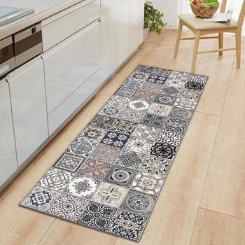 Maroko wzór maty kuchenne dywaniki Boho mata do drzwi wejściowych wystrój antypoślizgowy flanelowy antypoślizgowy dywanik kuchenny przedpokój dywan Home Decor tanie i dobre opinie CN (pochodzenie) living room dla dorosłych antypoślizgowe ORIENTAL Wykończony dywan (sztuka) GEOMETRIC PRINTED Europejska