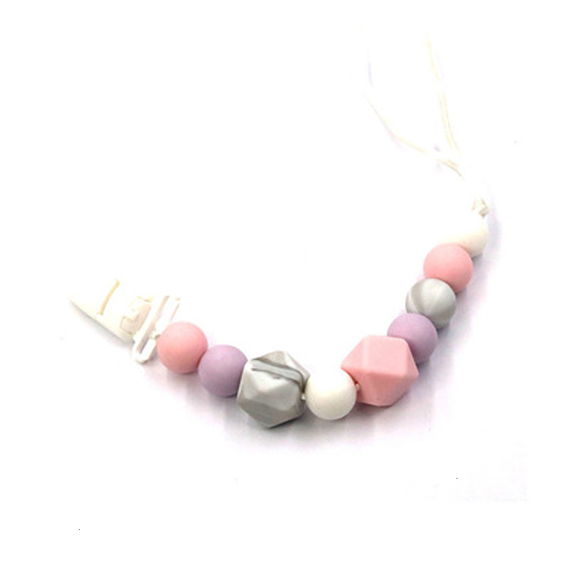 Handmade Silicone Pacifier Chain BPA Free Safe Teething Chain Teething Clip