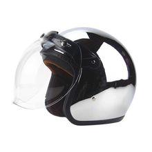 Freies verschiffen neue personalisierte mode chrom cascos capacete motorrad helm 3/4 open gesicht vintage roller jet helme