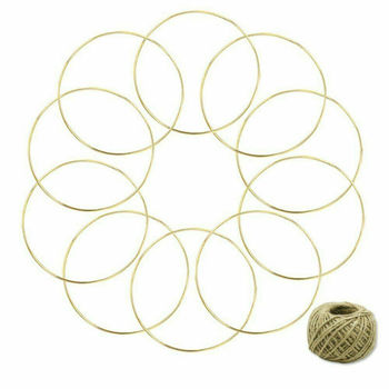 10 circles 2.8 * 150mm golden ring dream catcher, loop lace craft hoop fanatic, used for hanging catcher