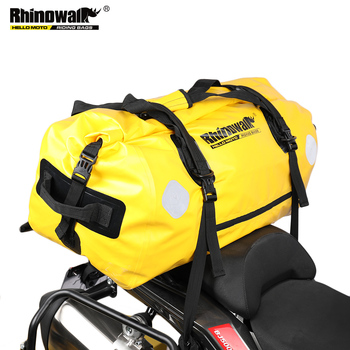 Rhinowalk Waterproof Bag Motorcycle Durable Large 65L  Capacity Motorcycle Dry Duffel Bag for Travel Hiking Camping osah drypak motorcycle waterproof tail bags multi functional durable rear motorcycle seat bag high capacity waterproof pvc bag