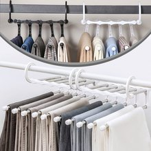 5-in-1 Pants Hanger Multifunctional Portable Stainless Steel Hanger for Clothes Trousers Coat Storage Organization Space Saving