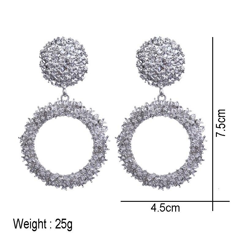 LEGENSTAR Best Selling French Gold Round O Shaped Hoop Drop Earrings For Women Fashion Jewelry Metal Big Earings Minimalist 2019 in Drop Earrings from Jewelry Accessories