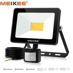 Image 1 - 35W éclairage LED avec capteur de mouvement IP66 LED étanche projecteur lampe réflecteur projecteur extérieur pour jardin