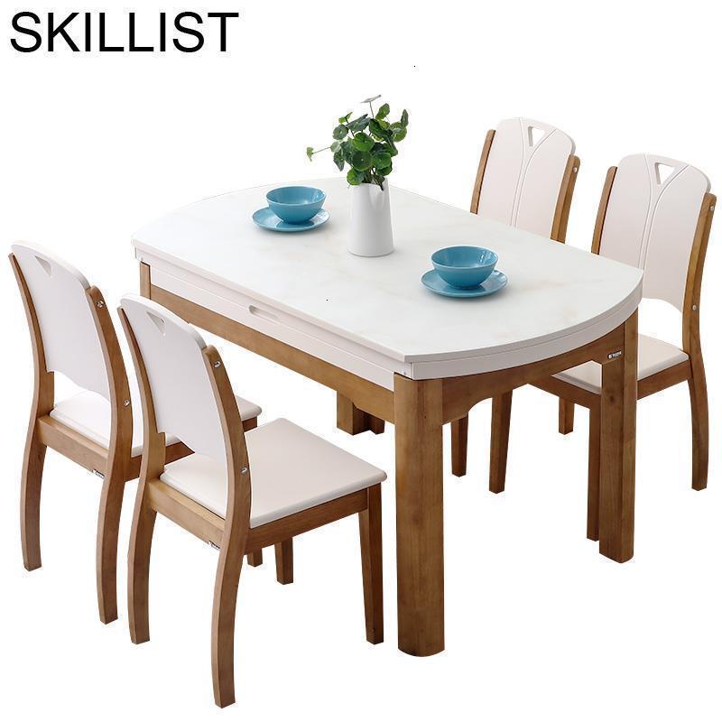 Set Juego Pliante Sala De Jantar Marmol Tafel Tisch Yemek Masasi Comedores Mueble Wood Mesa Comedor Tablo Desk Dining Room Table