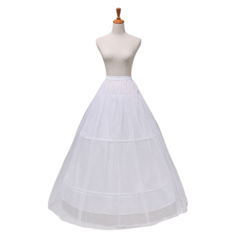 2 Hoops 1-layer Yarn Skirt Bride Bridal Wedding Dress Support Petticoat Women Costume Skirts Lining Liner E15E