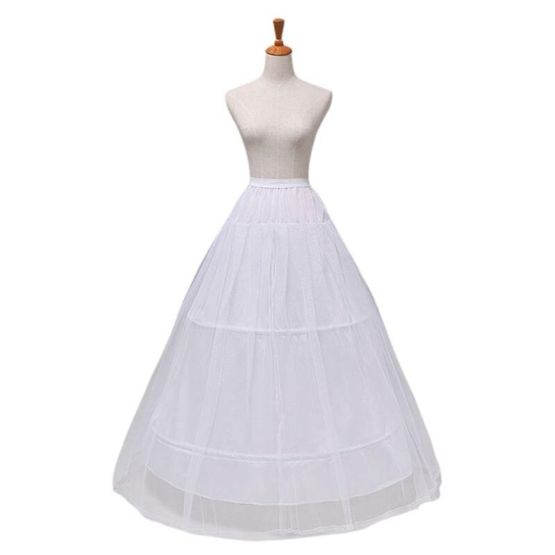 2 Hoops 1-layer Yarn Skirt Bride Bridal Wedding Dress Support Petticoat Women Costume Skirts Lining Liner E15E
