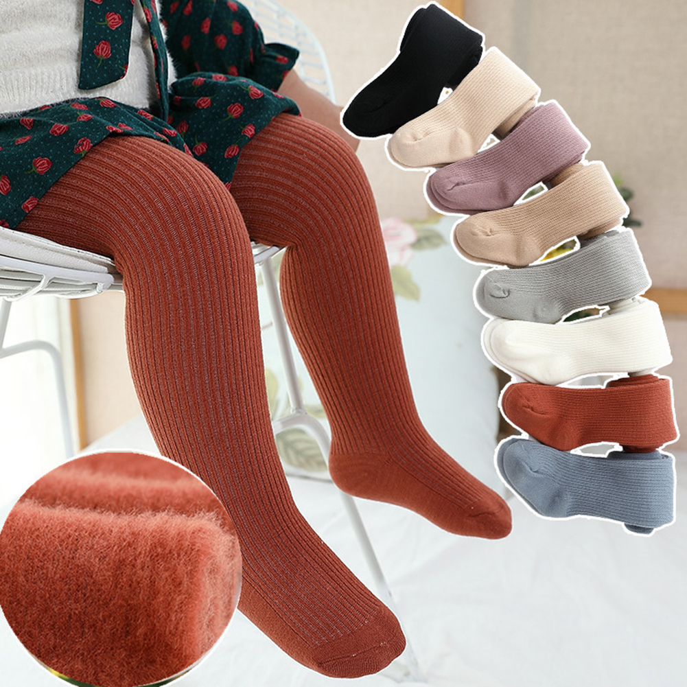 Soft Newborn Baby Fleece Pants Cotton Kids Stripe Stretch Leggings Autumn Casual Baby Girl Infant Toddler Trousers High Quality