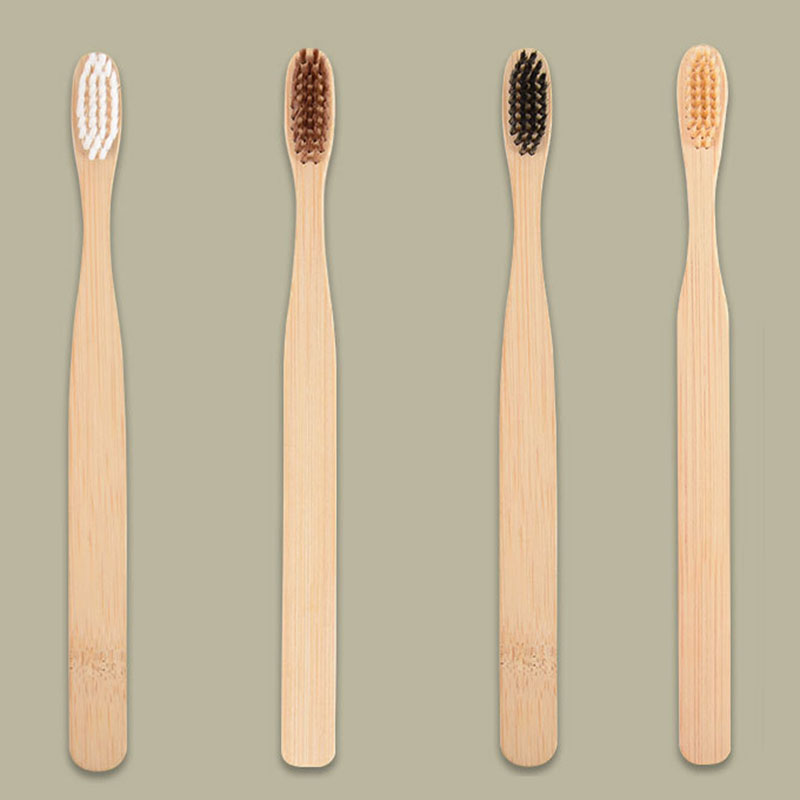 2PCS Bamboo Toothbrush Eco Friendly Products Environmental Health Wood Soft Toothbrushes For Adult And Children Tooth Brush