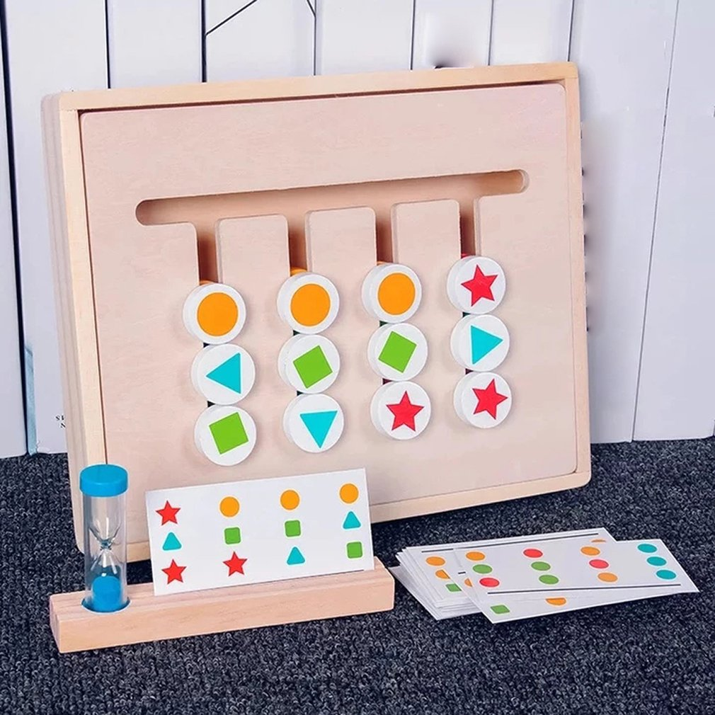 Montessori Teaching Aids Children 39 s Thinking Orientation Training Color Cognitive Four Color Game Early Education Gift