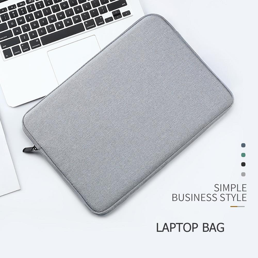 Laptop Sleeve Case 13 Inch Macbook Air Pro Ultra-book Notebook Computer Soft Plush Lining Zip Bags Tablet Sleeve Cover Bags   #D