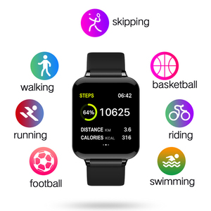 Image 5 - 여자 스마트 워치 컬러 스크린 IP67 아이폰에 대 한 방수 Smartwatch 심장 박동 모니터 혈압 기능 스포츠 시계