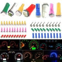 10 штук автомобиля профессиональный T5 73 37 17 58 Клин зеленый 1-SMD Автомобильный датчик светодиода индикаторы кластера Спидометр лампы