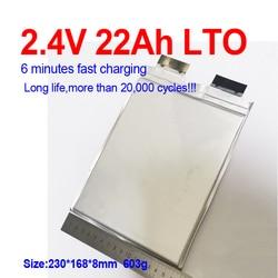 60pcs 2.4V 22Ah Lithium titanate battery no 2.3V 20AH LTO battery for diy 48v 24V Vehicle start  Forklift RV g cart