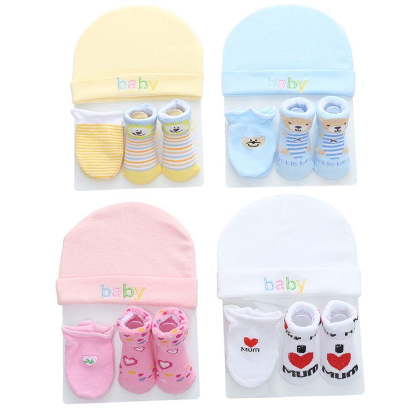 Осенне зимние детские шапки и варежки, носки для мальчиков и девочек, удобные детские шапки и перчатки, хлопковые аксессуары для новорожденных детей 0 3 лет|Шапки и кепки|   | АлиЭкспресс