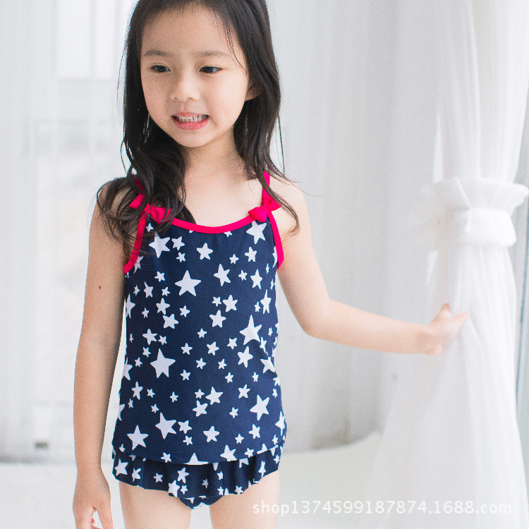 New Style KID'S Swimwear Girls Dress-Sun-resistant Two-piece Swimsuits Baby Young Children Baby Cartoon Multi-Craft Child Bathin