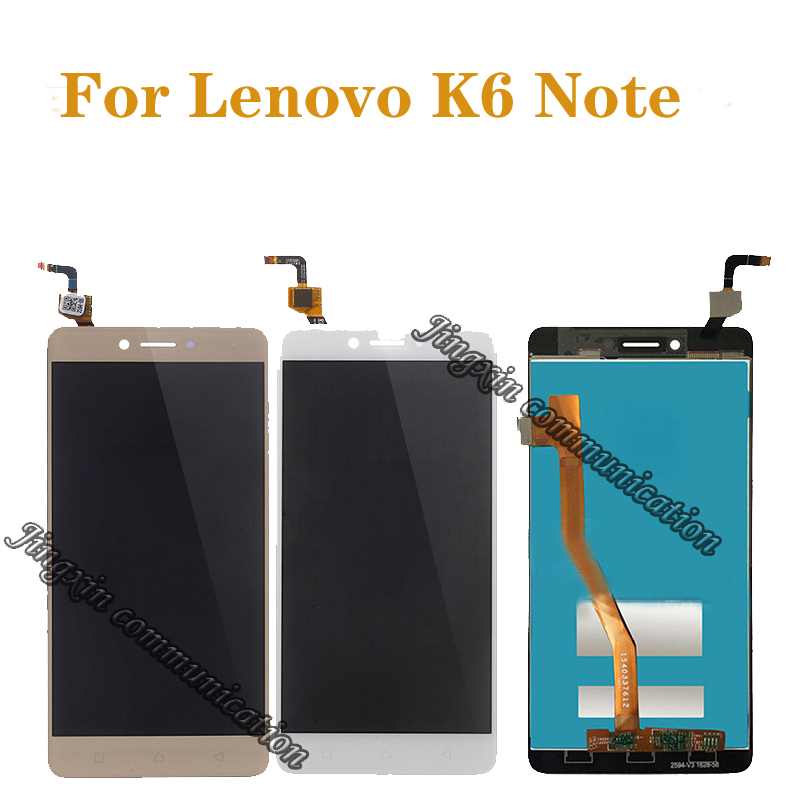 5.5 inch 100% test for Lenovo K6 Note full LCD display digitizer touch screen component repair parts free shipping+tools-in Mobile Phone LCD Screens from Cellphones & Telecommunications