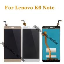 Lenovo k6 용 5.5 인치 100% 테스트 전체 lcd 디스플레이 디지타이저 터치 스크린 부품 수리 부품 무료 배송 + 도구