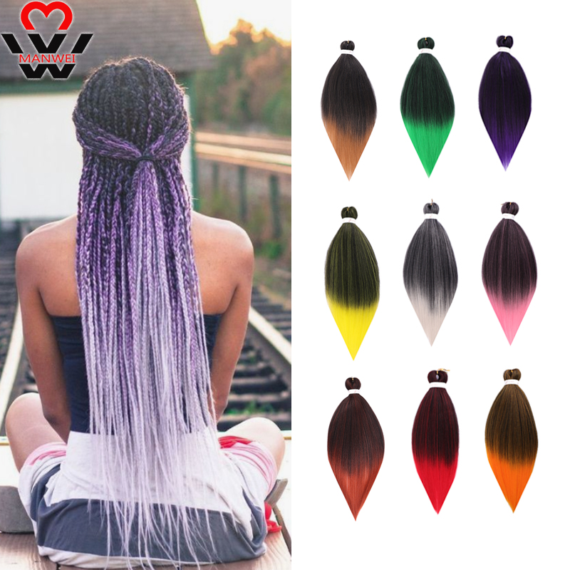 MANWEI Synthetic Crochet Hair Easy Jumbo Braids 26