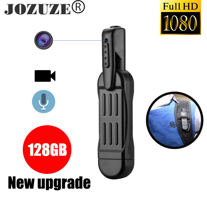 JOZUZE T189 Mini Camera  HD 1080P Camera Wearable Body Pen Camera Digital Mini DVR Small DV Camcorder Micro Camera Support 128GB