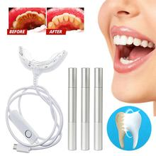 1pcs  6-LED Smart Teeth Whitening System Professional Light For Whiter With 3 Pens