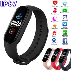 2020 M5 Smart Bracelet Men Women Fitness Tracker IP67 Waterproof Smart Wristband Sports Smartwatch Play Music for Adriod IOS