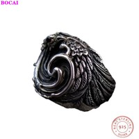 Flying phoenix BOCAI Thai silver man's rings for women s925 sterling silver ring for men 2020 new style fashion jewelry