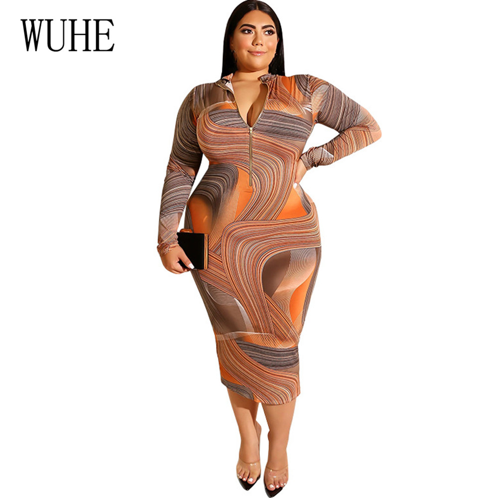 WUHE Vintage Large Size 4XL 5XL Women Vestidos Elegant Long Sleeve O neck Hollow Out Maxi Dress Femme Plus Size 5XL Retro Dress in Dresses from Women 39 s Clothing