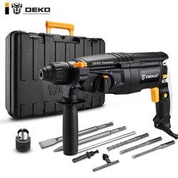 DEKO GJ181 220V 30mm 4 Funções AC Elétrica Martelo com BMC e 5pcs Acessórios Furadeira de Impacto furadeira Elétrica Broca