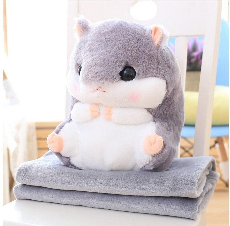 Cartoon Hamster Blanket Flannel Blanket Cushion Hand Warmer Throws On Sofa Bed Travel Plaids Manta Fleece Blanket