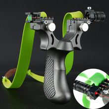 Laser Slingshot with Rubber Band High Precision Powerful 98K Shooting Slingshot Catapult for Outdoor Hunting Game