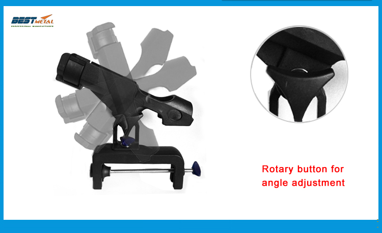 Details about  /Boat Marine Fishing Rod Pole Stand Bracket Support Clamp Holder Supplies DM