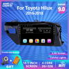 2DIN Android 9.0 Car Radio For Toyota Hilux 2016 2017 2018 Left Hand Multimedia Player GPS Navigation WiFi USB BT DVF Player