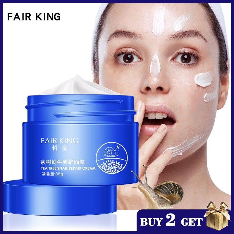 Tea Tree Snail Face Cream Hyaluronic Acid Moisturizer Whitening Anti Wrinkle Anti Aging Serum Collagen Nourishing Skin Care 35g