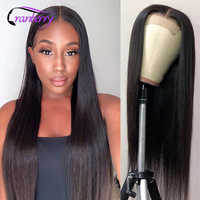 Arándano pelo hueso recto Cierre de cabello peluca Remy brasileño Cierre de encaje peluca pelucas de cabello humano para las mujeres negras Prelucked cabello