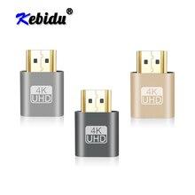 محول شاشة افتراضية من Kebidu VGA صغير HDMI DDC المكونات الدمية EDID عرض شبح بدون رأس لوحة قفل محاكي 1920x1080 @ 60Hz
