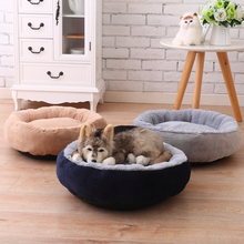 Warm Fleece Dog Bed Round Pet Lounger Cushion For Small Medium Large Dogs Cat Winter Dog Kennel Puppy Mat Pet Bed new winter warm dog round bed soft fleece kennel for puppy pet top quality lounger cushion for small medium large dogs