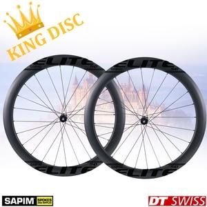Image 2 - ELITEWHEELS 700c freno a disco ruote in carbonio DT Swiss 240 per ciclocross ghiaia bici ruote copertoncino tubolare Tubeless Rim King