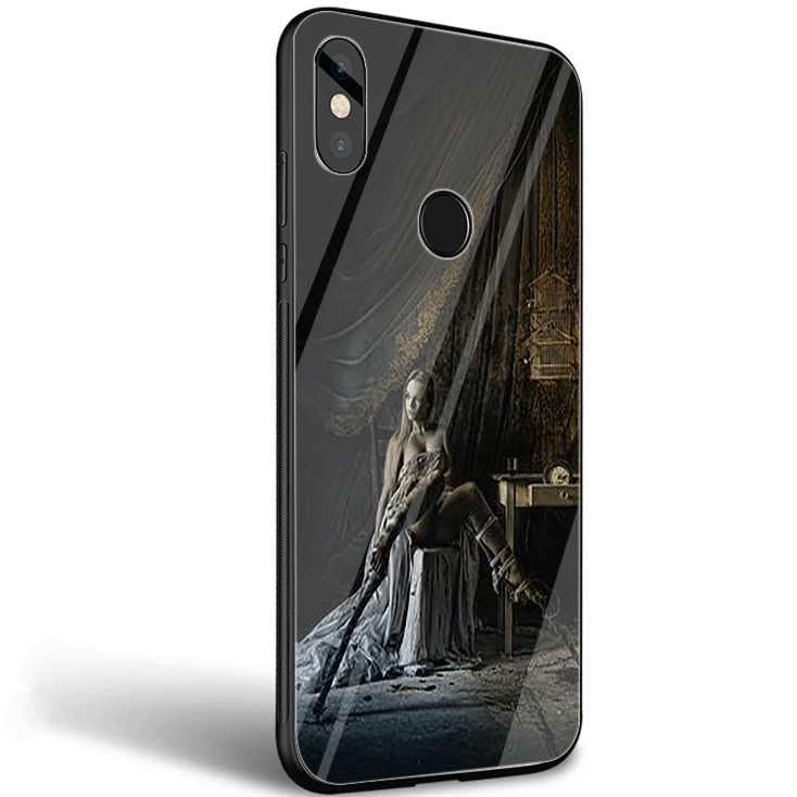 Caja del teléfono móvil de cristal para Xiaomi 8 Lite A1 A2 9 Redmi Note 5 5 5 6 6 7 Pro 6A 4X teléfono móvil f1 cubierta genial