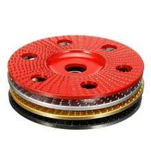 100mm עץ עיצוב דיסק שטוח גילוף דיסק עם חור 16mm נשא מלטש מטחנות גלגל עבור 100 115 זווית מטחנות חדש